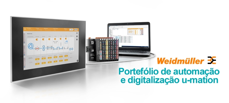 Portefólio de automação e digitalização u-mation da Weidmüller