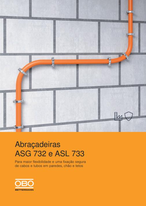 Catálogo Abraçadeiras Metálicas ASG 732 e ASL 733