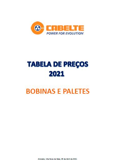 Tabela de Preços 2021